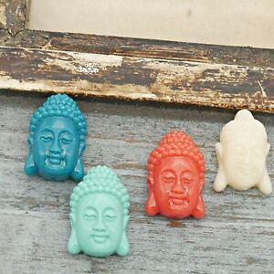 NELLYS Shiva Buddha Kopf Kunststoff Mala Perlen ca.23x15mm Farbauswahl 1 Perle
