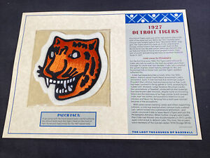 Willabee & Ward Lost Treasures Of Baseball Collection 1927 Detroit Tigers Patch