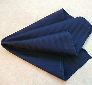 Hankie COTTON Pocket Square Handkerchief MENS Hanky DARK NAVY BLUE STRIPED