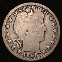 1898 25C Barber Quarter
