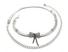 Ladies Womens Silver Diamante Belt Diamond Ladies Waist Chain Charm Fashion 216