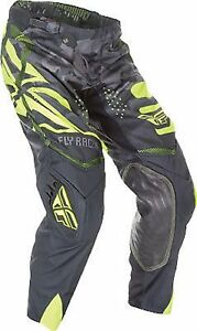 NOS FLY RACING 369-13636 EVOLUTION 2.0 PANTS BLACK / YELLOW MENS SIZE 36