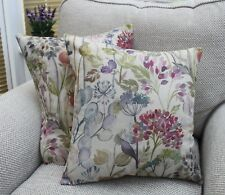 """VOYAGE HEDGEROW LINEN CUSHION COVER 16 X 16"""" HANDMADE"""