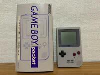 Nintendo GameBoy Pocket Console Gray Color With BOX Japan FedEx [R]