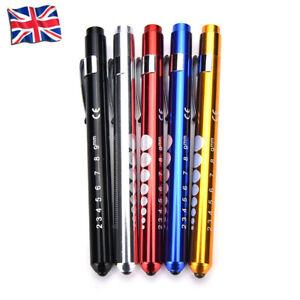 1X Medical Pen LED Light Pocket Surgical Torch Nurse Doctor Emergency Light UK