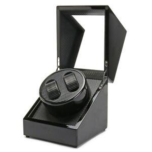 Luxury Watch Winder Dual Automatic AU Plug Watch Box Black Piano Paint