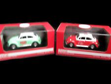 Coca-Cola Set of 2 1966 Volkswagen Beetle 1:43 Scale  - BRAND NEW
