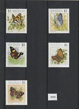 1991 Butterflies SG  1635-1639 MNH perf 14½