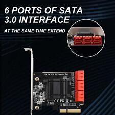 6 Puertos Tarjeta adaptadora de expansión PCIE a SATA3.0 6G Para NAS /LINUX