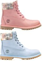 Timberland Women's Premium 6 Inch Waterproof Boots Pink / Light Blue A1W1S A1W24