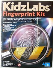 FINGER PRINT KIT DETECTIVE SCIENCE BY KIDZ LABS 4M - NEW & SEALED!
