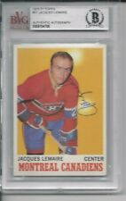 JACQUE LEMAIRE Signed 1970-71 TOPPS Card #57 Beckett Authenticated