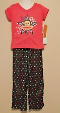 GIRLS XS 4/5 Paul Frank 2-piece pajamas NWT - Julius Monkey & Stars