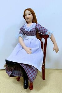 Dollhouse Miniature Porcelain  Victorian  Servant Girl Doll (Only)