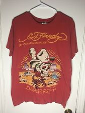 Ed Hardy Dangerous T-shirt By Christin Audigier Front And Back Graphic Size M