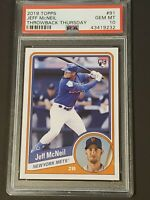 2019 Topps Throwback Thursday PSA 10 Jeff McNeil RC Rookie Mets