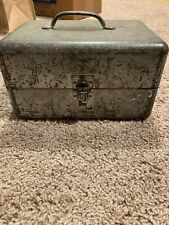 Vintage Antique Metal tool Or Lunch box W Handle And Hasp. Nice Patina.