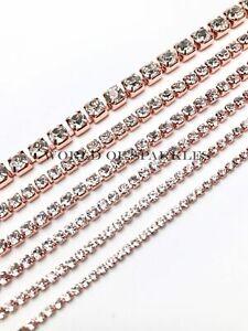 Rhinestone Chain Crystal Glass Gem Rose Gold Cup Trim Ribbon Sparkle Diamante