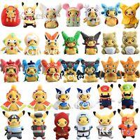 Pokemon Pikachu with Hood Cape Hat Series Mega Charizard Rayquaza Plush Toy Doll