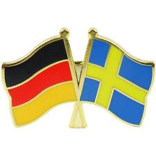 Freundschaftspin Deutschland - Schweden Anstecker Anstecknadel Fahne Doppelpin