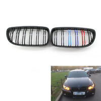 Gloss M-Color Black Double slat Car Front Grille for BMW E90 09-11 2010 CA00