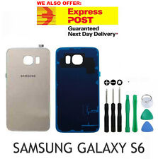 Samsung Galaxy S6 Gold Back Rear Glass Housing Battery Cover Case FREE TOOL