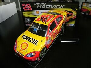 AUTOGRAPHED KEVIN HARVICK 2008 #29 SHELL IMPALA SS COT CAR WING NOT ATTACHED