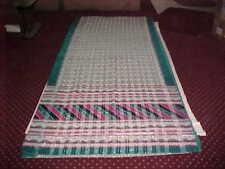NEW BONE White PEACOCK SILVER DAZZLING Sari LUXURIOUS Fabric DRAPE Panel WINDOWS