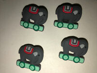 Elephant Train Lot Of 4 Crocs Shoe,Bracelet,Lace Adapter Charms Or Jibbitz