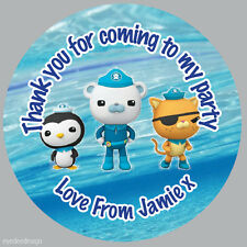Personalised Octonauts 37mm Round Stickers Party Bag Thank You Seals -N368