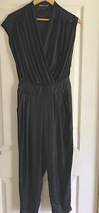 BETTINA LIANO WOMENS BLACK JUMPSUIT WORK PARTY EVENING Made In AU SZ 8