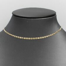 "New 14K Gold Italy Mirror Finish Gucci Mariner Link Pendant Chain 20"" Necklace"