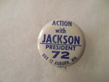 Presidential Pin Back Campaign Button Action With Scoop Jackson Henry Cello 1""