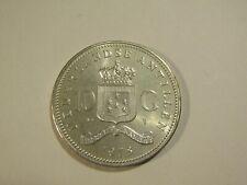 Netherlands Antilles 1978 10 Gulden Silver unc Coin