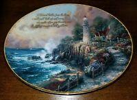 "Thomas Kinkade's Guiding Lights ""The Light of Peace"" Plate Bradford Exchange"