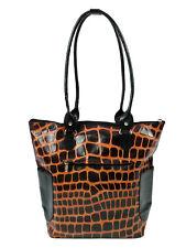Inuvik Womens Shoulder Bag Goat Skin Giraffe Print Front Pocket Made in Madrid