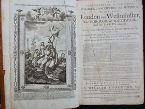 History & Survey of London and Westminster, Thornton, 1785, 46 plates, map, Rare