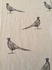 Art Of The Loom Pheasant Black / Natural Fabric Remnant (35)