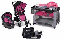 Baby Stroller Car Seat Play Pen Crib Diaper Bag Travel System Set Urbini New
