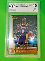 1 Kobe Bryant 1996-97 Bowmans Best Rookie Basketball Card #R23 HOF  10 GEM MINT!