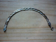 925 Sterling Silver 230 Ar Braided Mixed Metal Bracelet Stamped