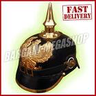 Prussian Leather Helmet German Officer Pickelhaube Helmet  WW2 Costume Helmet