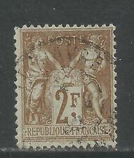 France 1898-1900 Peace & Commerce 2fr bronze on azure (108) used