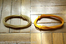 2 Mt WHITE & YELLOW GUITAR ELECTRIC 22 AWG VINTAGE CLOTH COVERED WIRE