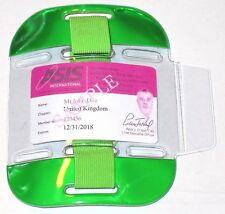 Green Hi Vis Tactical ID Arm Band Holder Security ID Badge Card Doorman SIA