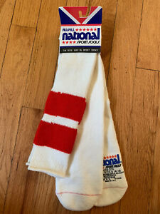 Vintage Russell National Sport Over The Calf Striped Tube Socks Orlon XL 14-18