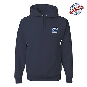 USPS Embroidery Hoodie Postal Service Eagle Stamp Navy Black Blue Sweatshirt