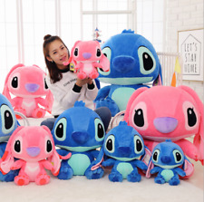 Pink Blue Lilo Stitch Disney Official-Anime Plush Toy Soft Stuffed Kids gift5*02