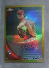 2010 Topps Chrome MIKE LEAKE #176 Gold Refractor RC Auto #21/50