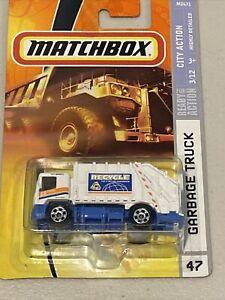 Blue Garbage Truck Matchbox 2007 International Workstar 7500 Construction Garbage Truck Collectible Die Cast Metal Toy Car Model